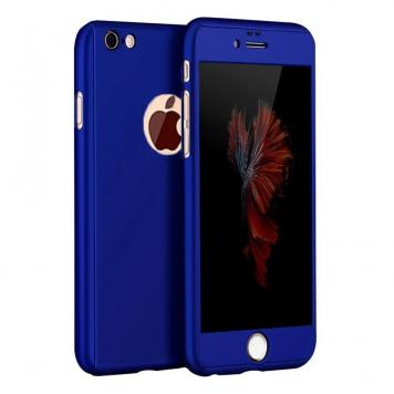 Apple Iphone 7G Plus 360 Degree Ipaky Blue - Full Body Protection (Front+ Back + Temper Glass) Case Cover by GetSetStyle