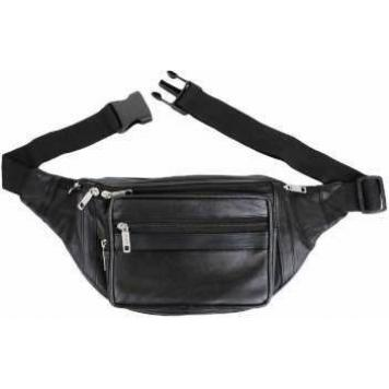 1446 Genuine Leather Belt pouch (Black) By Maskino Leathers