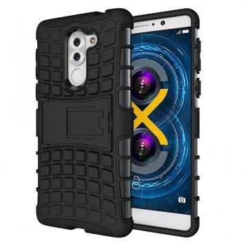 Lenevo K8 Note High Quality Defender Tough Hybrid Armour Shockproof Hard PC + TPU with Kick Stand Rugged Back Case Cover - Black by GetSetStyle