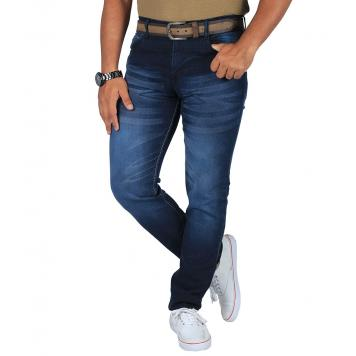 Modern Look Men's Stretchable Fabric Blue Slim Fit Jeansblue30