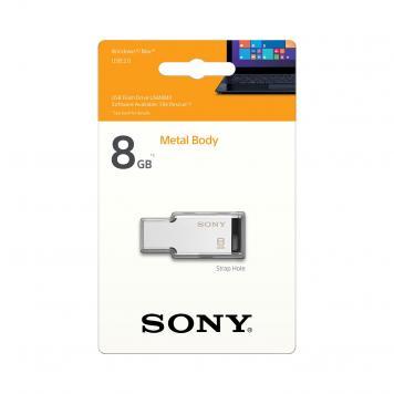 Sony 8GB USB Metal Pendrive (Silver) by HK Retail Pvt Ltd128gb
