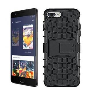 Redmi Mi A1 High Quality Defender Tough Hybrid Armour Shockproof Hard PC + TPU with Kick Stand Rugged Back Case Cover - Black by GetSetStyle
