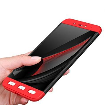 Redmi A1 360 Degree Ipaky Red - Full Body Protection (Front+ Back + Temper Glass) Case Cover by GetSetStyle