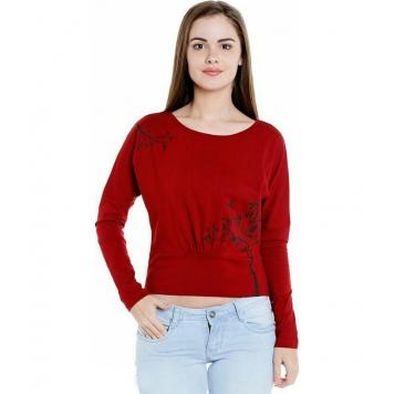 Ovela Casual & Stylish Top (Red) by Asli Fashion
