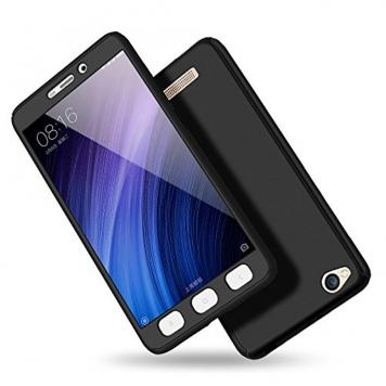 Redmi Y1 Lite 360 Degree Ipaky Black - Full Body Protection (Front+ Back + Temper Glass) Case Cover by GetSetStyle