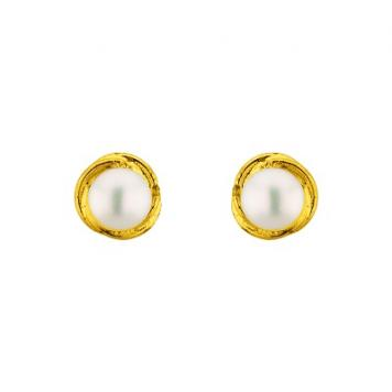 Sri Jagdamba Pearls Jalebi Pearl Earrings
