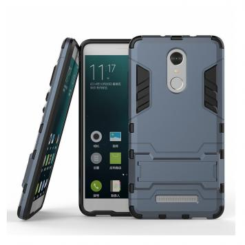 Vivo V7 Robot Kickstand Cover Shockproof Military Grade Armor Defender Series Dual Protection Layer Hybrid TPU + PC Kickstand Back Case Cover - Blue by GINT