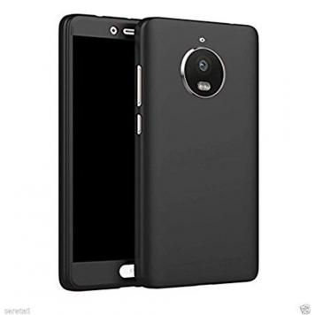 Moto C Plus 360 Degree Ipaky Black - Full Body Protection (Front+ Back + Temper Glass) Case Cover by GetSetStyle