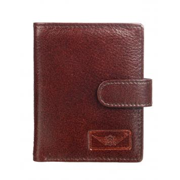 Genuine Leather Casual Book Fold Card Holder for Men & Women (Brown) - By Maskino Leathers