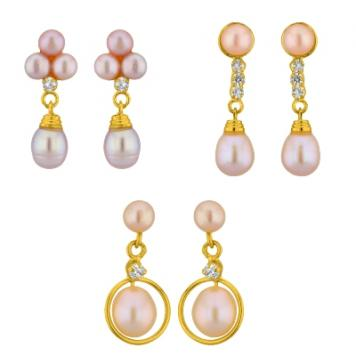 Sri Jagdamba Pearls Pink Pearl Combo
