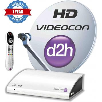 Videocon d2h HD Zapper Set Top Box with 3 Month Gold HD Combo Pack Free