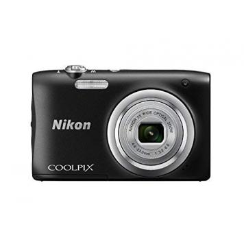 Nikon Coolpix A10 Point and Shoot Digital Camera (Black) with 16GB Memory Card, Camera Case and Rechargeable Batteries By HK Retail Pvt Ltd
