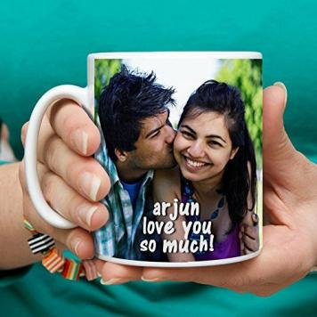 DigiProw Print Your Photo on Mug Perfect Gift for All, Personalized Mug with Your Photo, Messages and Caption - Valentine Gift Valentine Day Gift