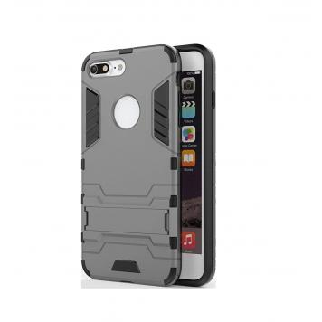 Vivo V7 Plus Robot Kickstand Cover Shockproof Military Grade Armor Defender Series Dual Protection Layer Hybrid TPU + PC Kickstand Back Case Cover - Grey by GetSetStyle