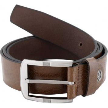 Premium Quality Mens Genuine Leather Belt - (Brown) by Maskino Leathersbrown34