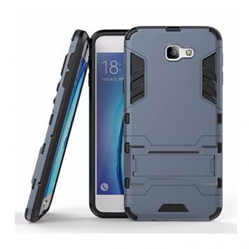 Samsung Galaxy J7 MAX Robot Kickstand Cover Shockproof Military Grade Armor Defender Series Dual Protection Layer Hybrid TPU + PC Kickstand Back Case Cover - Blue by GINT