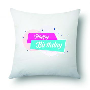 "Mekanshi Premium Happy Birthday Printed Combo Gift Pack (12"" x 12"" Cushion Cover with Filler)"