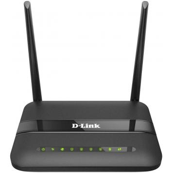 D-Link 2750U/In/I Wireless-N300 Adsl2 Router With Modem (Black) - HK Retail Pvt Ltd