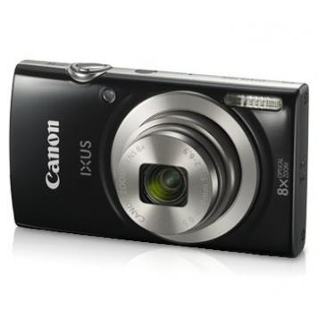 Canon IXUS 185 20MP Digital Camera with 8X Optical Zoom/Memory Card/Camera Case (Black) By HK Retail Pvt Ltd