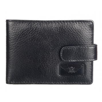 Men Black Genuine Leather Wallet - By Maskino Leathers