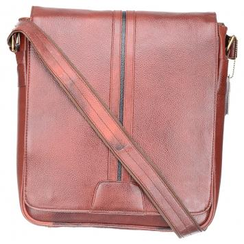 Sophisticated 100%Genuine Leather Brown Laptop slingbag (SB001) by Maskino Leathers