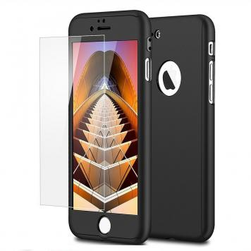 Apple Iphone 7G 360 Degree Ipaky Black - Full Body Protection (Front+ Back + Temper Glass) Case Cover by GetSetStyle