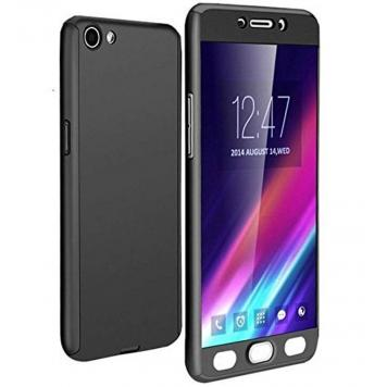 Oppo F3 360 Degree Ipaky Black - Full Body Protection (Front+ Back + Temper Glass) Case Cover by GetSetStyle