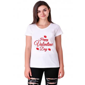 Mekanshi HAPPY VALENTINE DAY casual printed t-shirt (Wo...