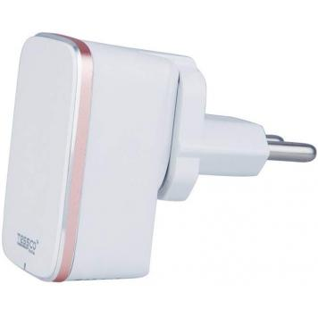 Tessco Bc-2.1A Qualcomm 2.0 Quick USB travel charger(single USB) for iphone with free Android USB charger cablewhite