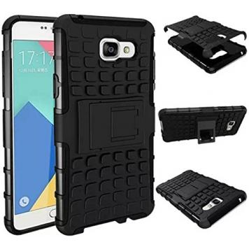 Samsung Galaxy J1 Back Cover Kickstand Defender Case For Samsung Galaxy J1 Back Cover (Black) By GetSetStyle