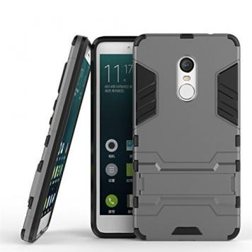 Lenevo K6 Power Robot Kickstand Cover Shockproof Military Grade Armor Defender Series Dual Protection Layer Hybrid TPU + PC Kickstand Back Case Cover - Grey by GINT