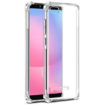 Vivo Y71 Anti Shock Proof Soft Transparent Silicone Boom TPU Back Case Cover [Bumper Corners with Air Cushion Technology] by GINT GetSetStyle