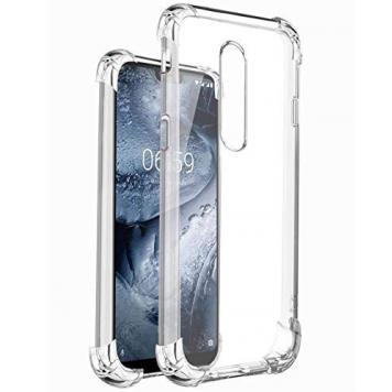 Nokia 6 Anti Shock Proof Soft Transparent Silicone Boom TPU Back Case Cover [Bumper Corners with Air Cushion Technology] by GINT GetSetStyle
