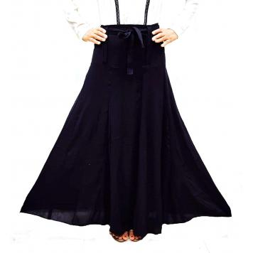 Grace18 Womens Cotton Black Colour Flared Long Skirt| Length 38 Inch| Waist 30 to 42 Inches.