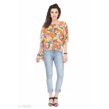 Stylish & Fancy Printed Georgette Tops