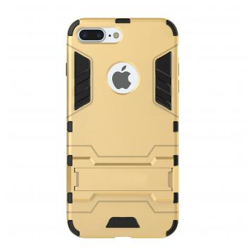 Apple Iphone X Robot Kickstand Cover Shockproof Military Grade Armor Defender Series Dual Protection Layer Hybrid TPU + PC Kickstand Back Case Cover - Golden by GINT