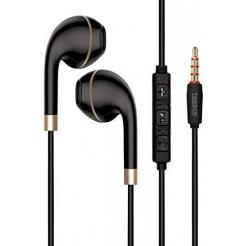 Tessco Japan CH-231 in- Ear Apple Style Headphones HD Stereo Sound With Volume Control Remote for ios/Android Smart phones (Black)black