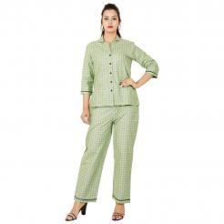 Super Fine Quality Cotton Night Suit by Asli FashionGreenL